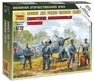 ZVEZDA 6187 - 1/72 WARGAME ADDON SOVIET AIRFORCE GROUND CREW  - NEU