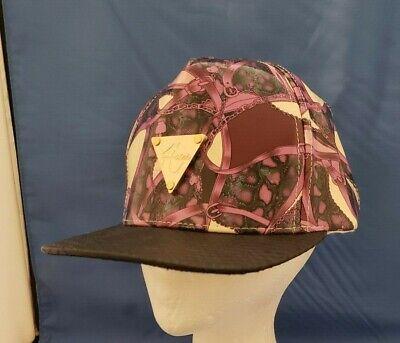 Hater Snapback Cap Hat Black & Purple with Belts