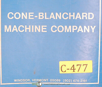 Cone Blanchard 18 Grinder Operations And Parts Lists Manual 1972