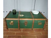 A Vintage Green Trunk