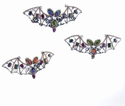 on Set Of 3 Tricky Treat Halloween Jeweled Bat Ornaments NEW (Tricky Treat Halloween)
