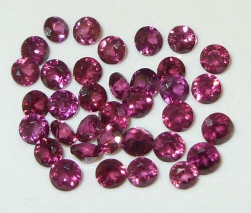 5.04ct Lot 35pcs Mozambique Rhodolite Garnet Round Cut 2.85-3.2mm SPECIAL