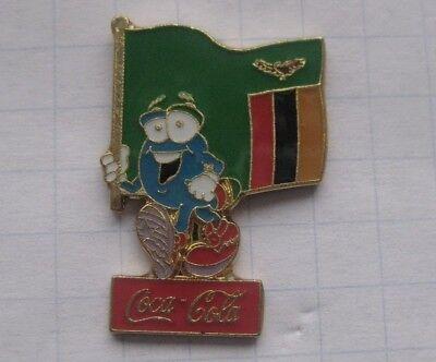 COCA-COLA / ATLANTA 1996 / IZZY / SAMBIA  FAHNE.... Sport Pin (106a)