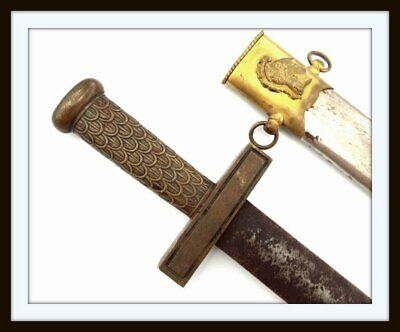 ANTIQUE ROMAN GLADIUS FORM MUSICIAN BANDSMAN PARADE SHORT SWORD ~ ITALIAN/FRENCH