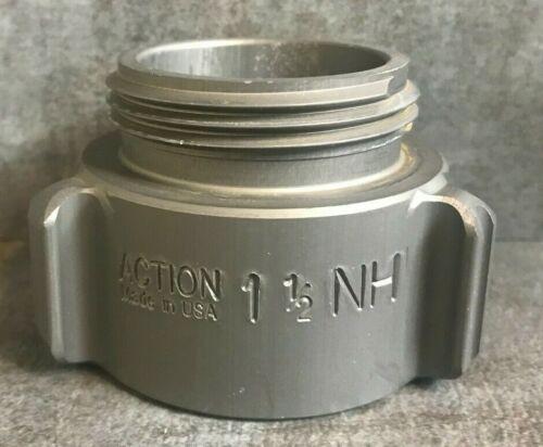 """Aluminum Fire Hose Thread Adapter, 1.5"""" M.NST(NH) x 1.5"""" F.NPT Rocker Lug"""