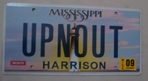 "MS VANITY LICENSE PLATE ""UPNOUT"" UP N OUT"