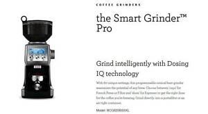 """COFFEE GRINDER Breville BCG820SS """"The Smart Grinder™ Pro"""""""