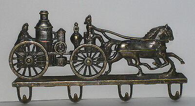 """alte Feuerwehr """"Garderobe""""- Schlüsselhaken, Messing, Nostalgie-Stil / 22x12x2cm"""