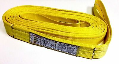 All Purpose - 2 Wide 2-ply Tow Recovery Straps Lifting Slings Tie-downs