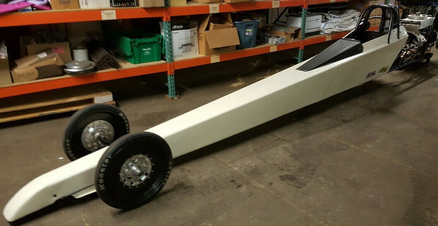 """235"""" Mike Bos """"Super Comp"""" dragster chassis ready for engine and shorty glide"""