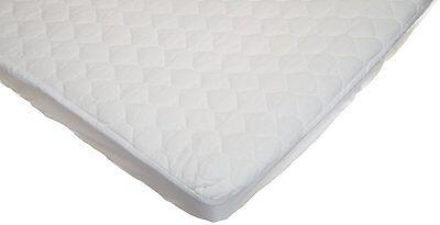 American Baby Company Portable/Mini Crib Mattress Pad Cover, White, New