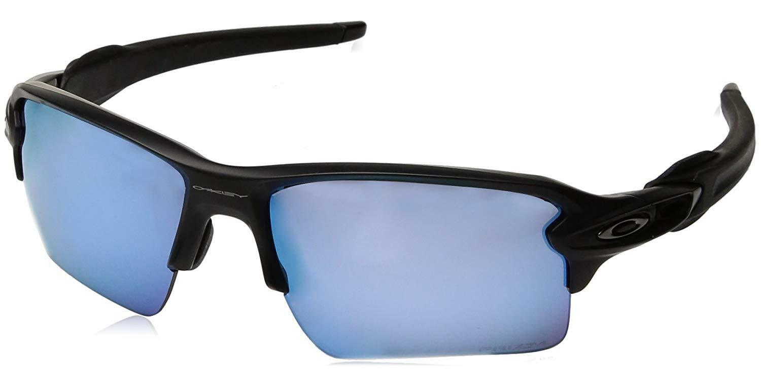 ae5fa3b68ca Oakley Flak 2.0 XL Matte Black Prizm Deep Water Polarized Sunglasses OO9188- 58