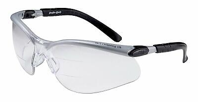 3M BX Dual Reader Protective Eyewear, 11457 Clear Lens, +1.5 Top/Bottom Diopter - M Reader