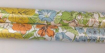 "Lot of 2 Sealed Generation 28"" Wallpaper Rolls Floral Fower Power Retro 70s 60s NIP"