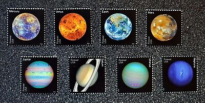 2016USA #5069-5076 Forever - View of Our Planets - Set of 8 Singles - Mint NH