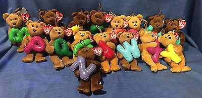 anies Teddys Auswahl 15 cm (Alphabet Bean Bags)