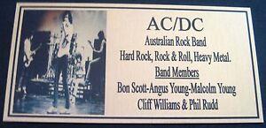BON SCOTT GROUP AC/DC Photo  Gold Plaque*** FREE POSTAGE***new