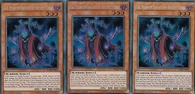YUGIOH CARD - 3 X  THE PHANTOM KNIGHTS OF ANCIENT CLOAK - BLRR-EN061  SECRET