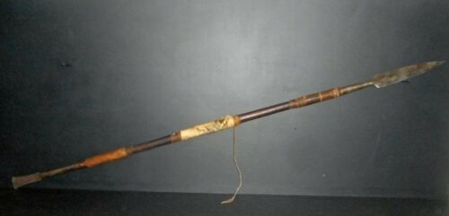 OLD MANDINGO ETHNIC SPEAR, XIX ° CENTURY, AFRICAN LANCE FOR COLLECTION