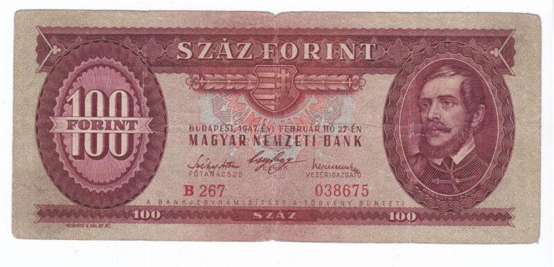 Hungary 100 Forint 1947 F