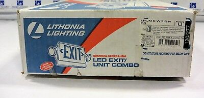 Litonia Led Exit Light Combo Lhqmsw3rnos Lhqm 144x4a Red Letters New