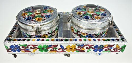 Container Altar Offering Desk Dresser Storage Spice Incense Boho Folk