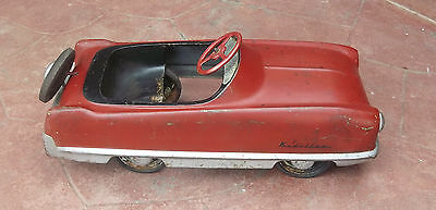 VINTAGE 1950'S GARTON KIDILLAC DELUXE CHILDRENS PEDAL CAR CHAIN DRIVEN RED