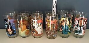 Star Wars Burger King glasses full set