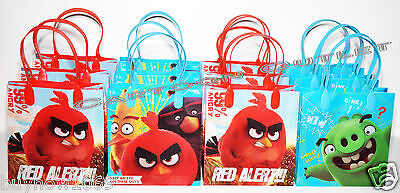 12 PCS ANGRY BIRDS PARTY FAVORS GIFT BAGS GOODY CANDY BAGS ROVIO NEW MOVIE - Angry Bird Party Favors