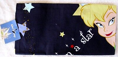 DISNEY TINKERBELL COTTON SCARF BANDANA - CRAFTS TABLES GIFTS - LAST ONES! BLK