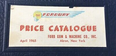 1965 Ford Gum Ball Machine Fordway Price Catalogue Catalog Parts Decals Diagram
