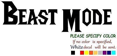 Beast Mode Funny Vinyl Decal Sticker Car Window Laptop Tablet Truck Netbook 12