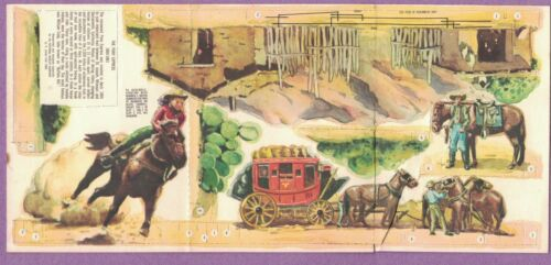 1960 THE PONY EXPRESS ADVERTISING PREMIUM NATIONAL BISCUIT NABISCO UNPUNCHED