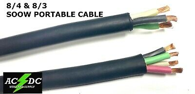 83-84 Or 63-64 8 Gauge 6 Awg Soow Cable Wire Cord Portable Power 600v Usa