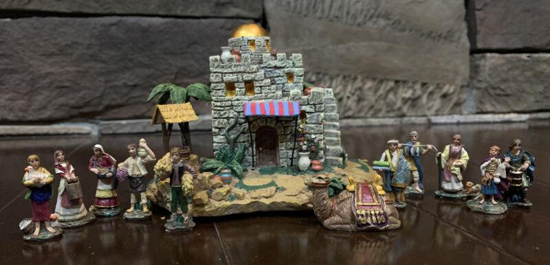 Thomas Kinkade Hawthorne Village Nativity Humble Inn Miniature with Figures