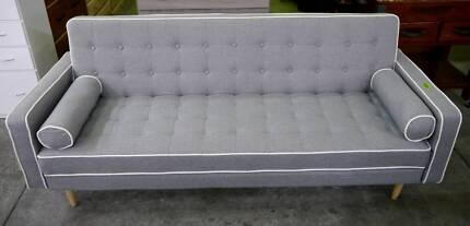 New Scandi Danish Grey Sofa Bed Lounge Suite Click Clack