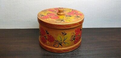 Vintage Casket Box Tree Wood Cultures & Ethnicities Khokhloma USSR Soviet UK