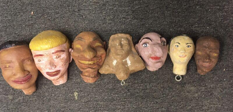 7 Vintage Puppet Heads
