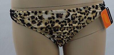 O'RAGEOUS brown w black spots animal print side strap swim bikini (Bikini Strap)