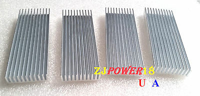 4pcs 1003510mm Silver Aluminum Heat Sink For Led And Power Ic Transistor