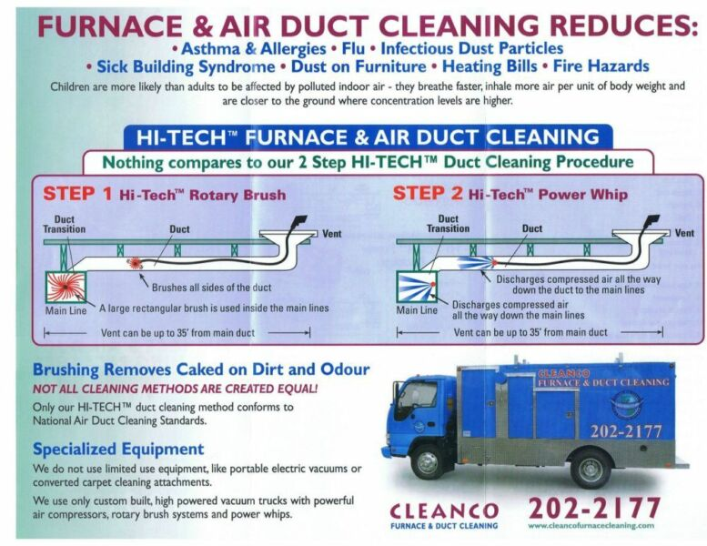 furnace and duct cleaning calgary cleanco cleaners