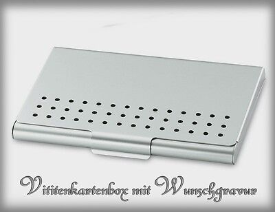 Visitenkartenetui  Aluminium matt inkl.Wunschgravur!!!