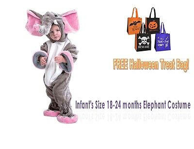 HALLOWEEN COSTUME Elephant Size Infant 18-24 months Pink Jumpsuit Safari](Halloween Costume Balloons)