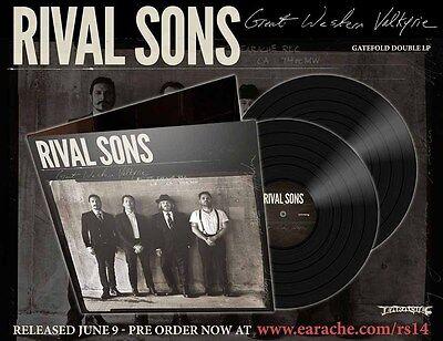 "Rival Sons ""Great Western Valkyrie"" Gatefold 2x12"" Black Vinyl - NEW!"