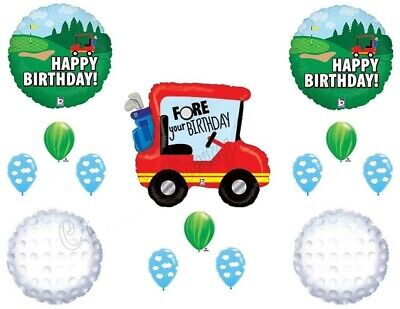 14 balloons GOLF FORE YOUR birthday party favors decorations cart balls clouds