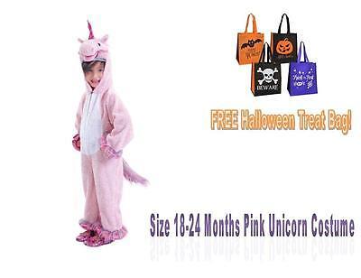 HALLOWEEN COSTUME Unicorn Size Infant 18-24 months Pink Jumpsuit Rainbow Girl](Halloween Costume Balloons)