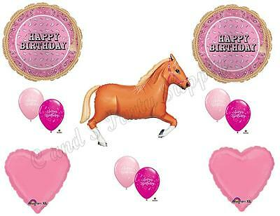 PINK BANDANA TAN HORSE HAPPY Birthday Party Balloons Decoration Supplies Cowgirl - Cowgirl Birthday Supplies