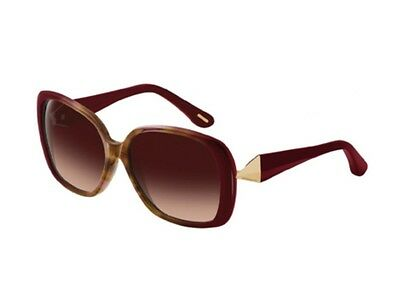 Brand New Givenchy SGV828 0AH7 Wine Red/Brown Gradient Sunglasses