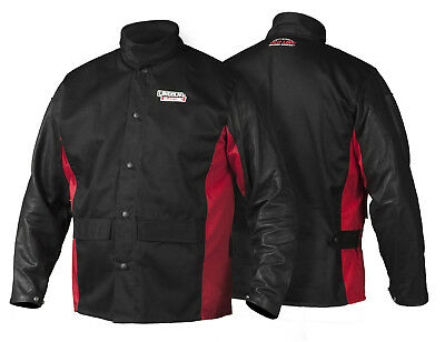 Lincoln K2987 Shadow Grain Leather Sleeved Welders Welding Jacket Medium