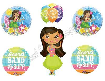 HULA GIRL BEACH Birthday Party Balloons Decoration Supplies Ocean Luau BBQ Pool